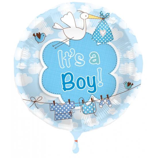 Ballon jongen geboren Its a Boy (bron: Disco-feestwinkel)