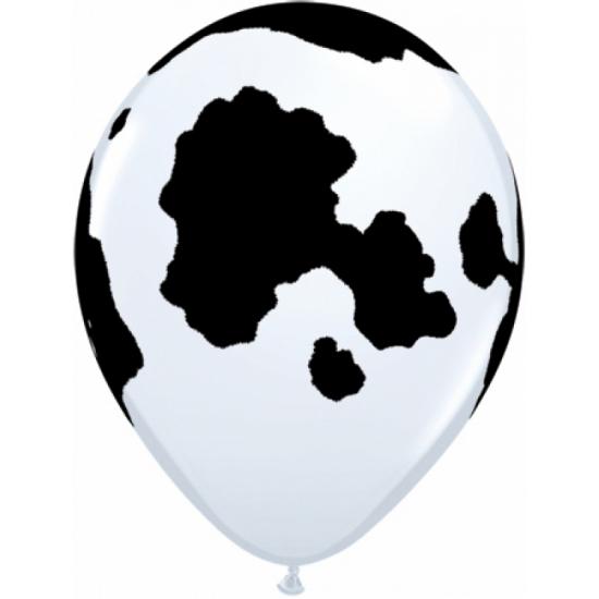 Ballonnen met koeien print 28 cm