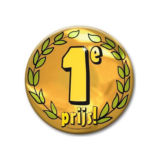 Eerste prijs button XXL (bron: Disco-feestwinkel)