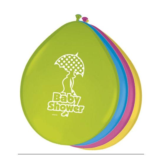 Gekleurde babyshower ballonnen (bron: Disco-feestwinkel)