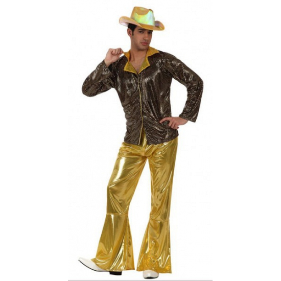 Gouden broek en blouse voor heren