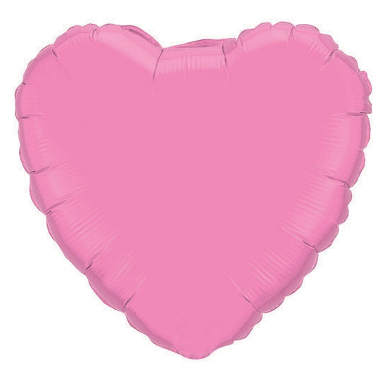 Helium folie ballon roze hart 45 cm
