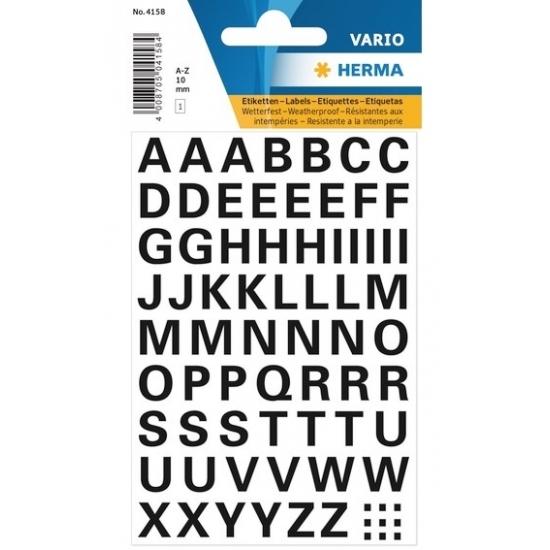 Letterstickers zwart 10mm 65x (bron: Disco-feestwinkel)