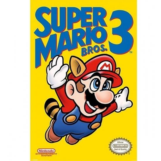 Nintendo Mario Bros kinder posters (bron: Disco-feestwinkel)