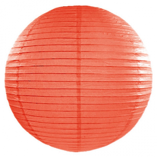 Oranje lampion rond 50 cm (bron: Disco-feestwinkel)