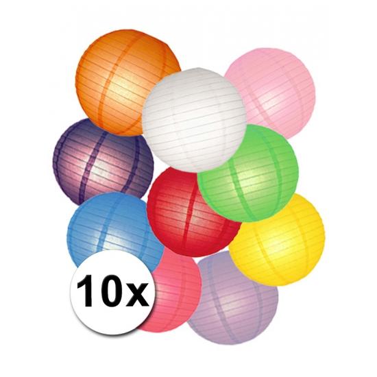 Pakket met gekleurde lampionnen (bron: Disco-feestwinkel)