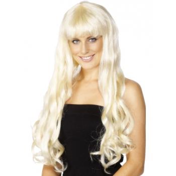 Paris pruik met lang blond haar (bron: Disco-feestwinkel)