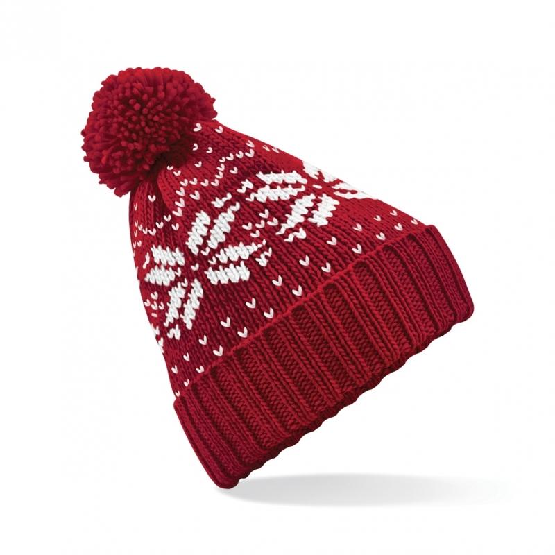 Rode wintermuts Snowstar Classic (bron: Disco-feestwinkel)