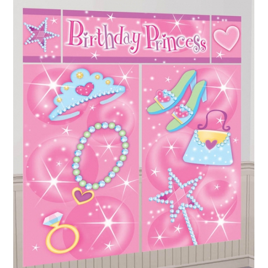 Roze verjaardag decoratie 165 x 190 cm (bron: Disco-feestwinkel)