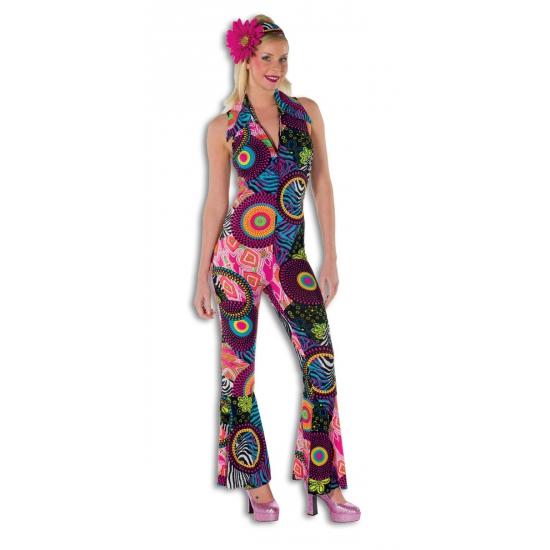 Strakke disco jumpsuit voor dames (bron: Disco-feestwinkel)