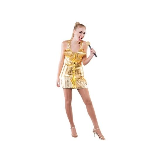 Supersterren outfit goud voor dames (bron: Disco-feestwinkel)
