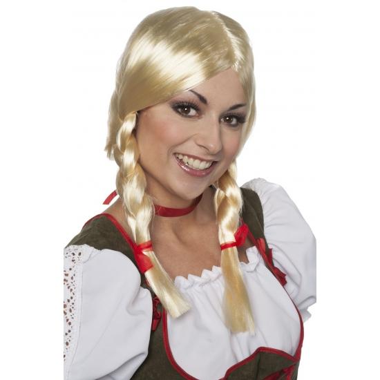 Tiroler pruik Greetje voor dames (bron: Disco-feestwinkel)