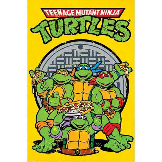 Turtles maxi poster 61 x 91,5 cm (bron: Disco-feestwinkel)