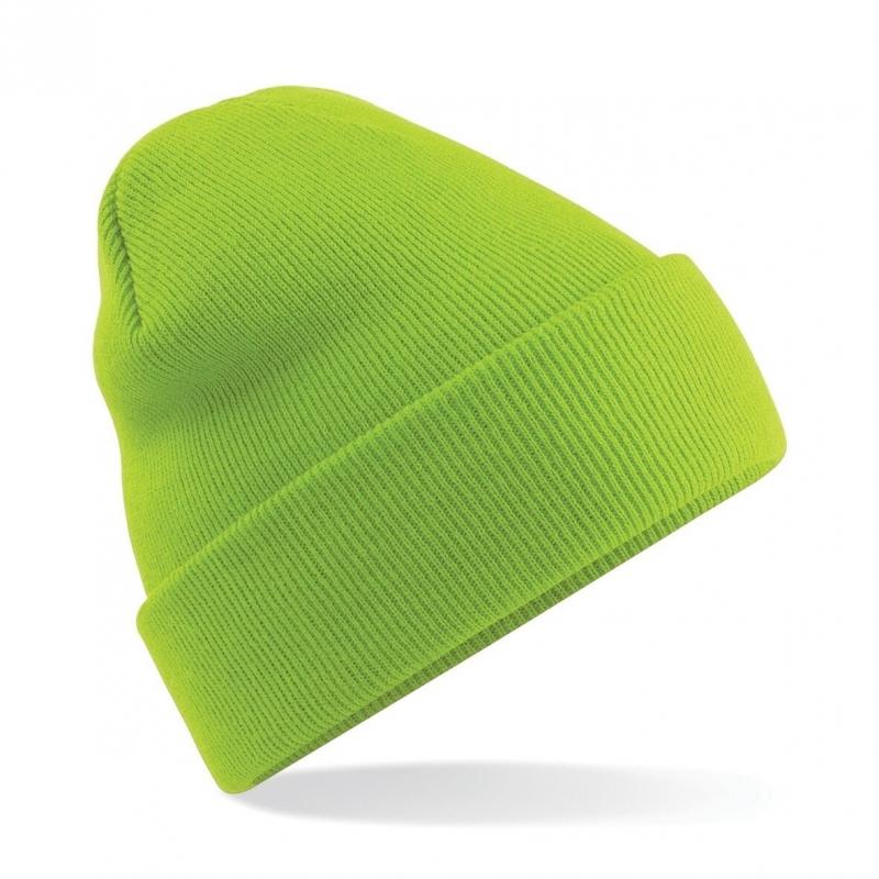 Warme gebreide muts in het Lime groen (bron: Disco-feestwinkel)
