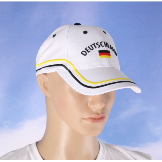 Witte Duitsland supporters pet