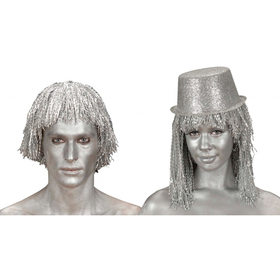Zilveren make-up tube