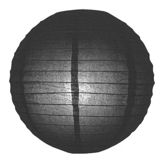 Zwarte lampion rond 25 cm (bron: Disco-feestwinkel)