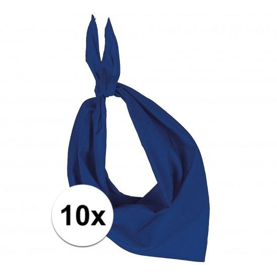 10 stuks kobalt blauw hals zakdoeken Bandana style