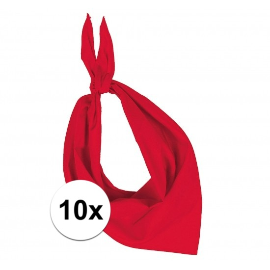 10 stuks rood hals zakdoeken Bandana style