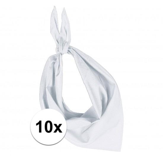 10 stuks wit hals zakdoeken Bandana style