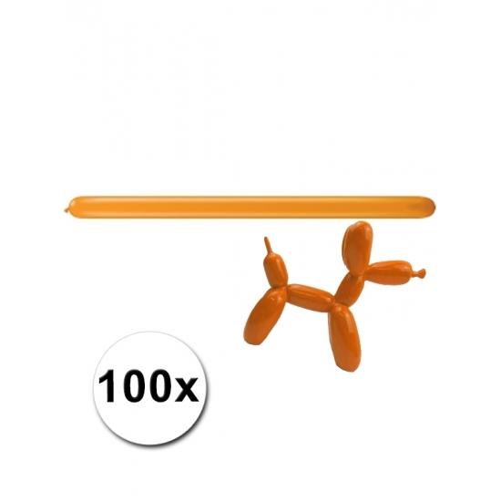 100 stuks figuurballonnen oranje