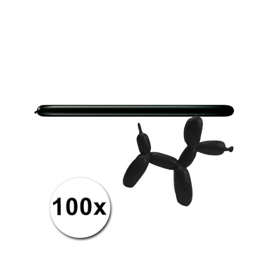 100 stuks figuurballonnen zwart