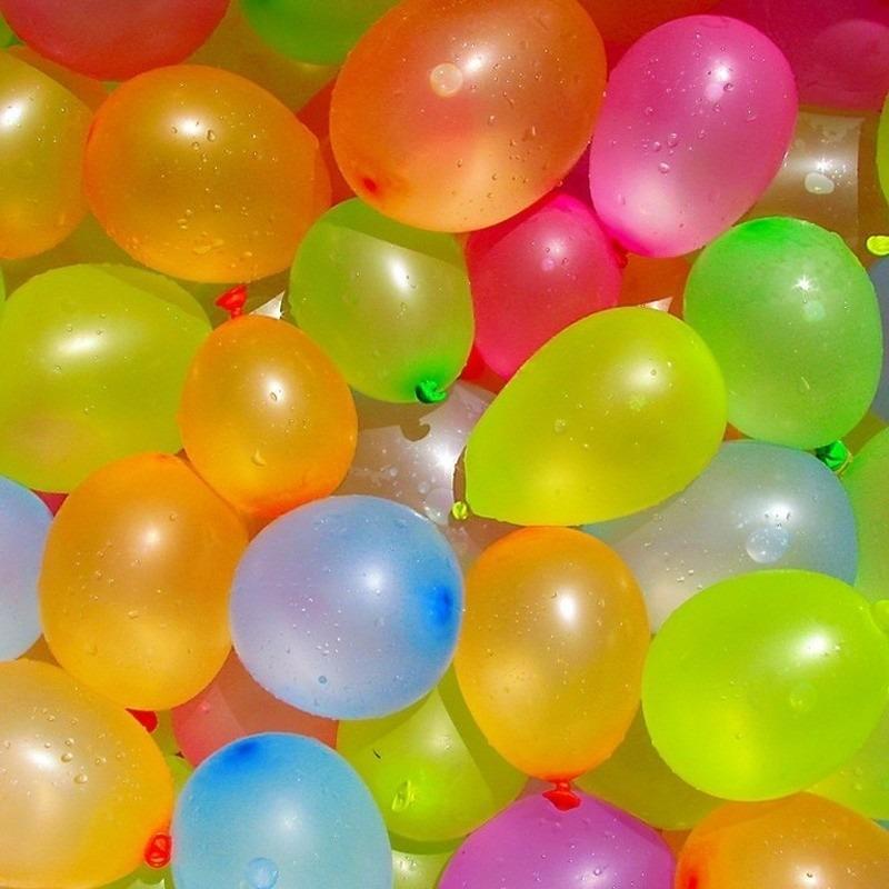 100x Gekleurde waterballonnen in zakje