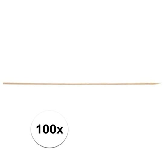 100x Houten hapjes prikkers 20 cm