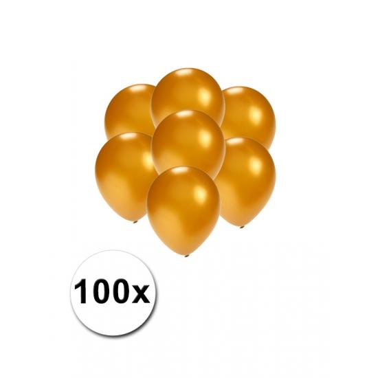 100x Mini ballonnen goud metallic