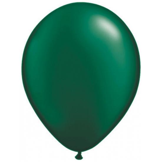 100x qualatex donkergroen ballonnen