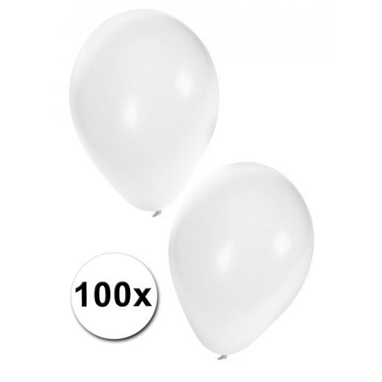 100x witte feest ballonnen