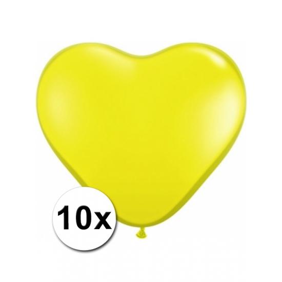 10x Hart ballonnen geel