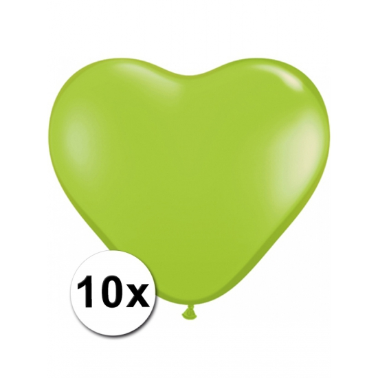 10x Hart ballonnen limegroen