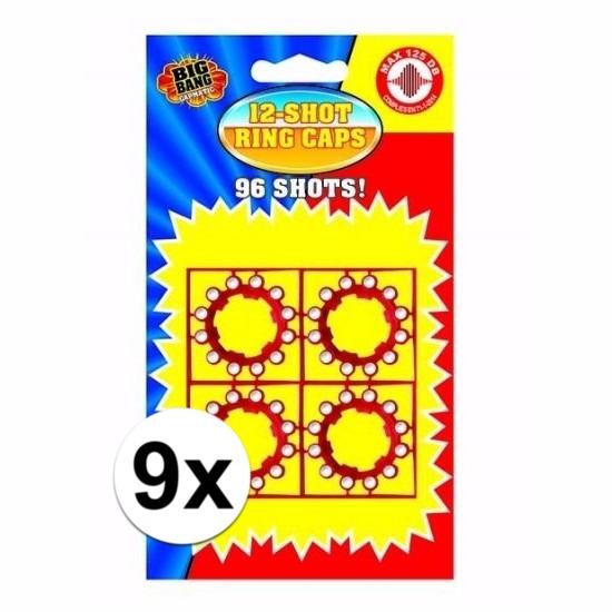 12-schots speelgoed plaffertjes 9 stuks