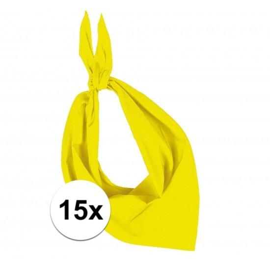15 stuks geel hals zakdoeken Bandana style