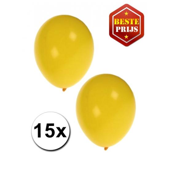 15 stuks gele ballonnen