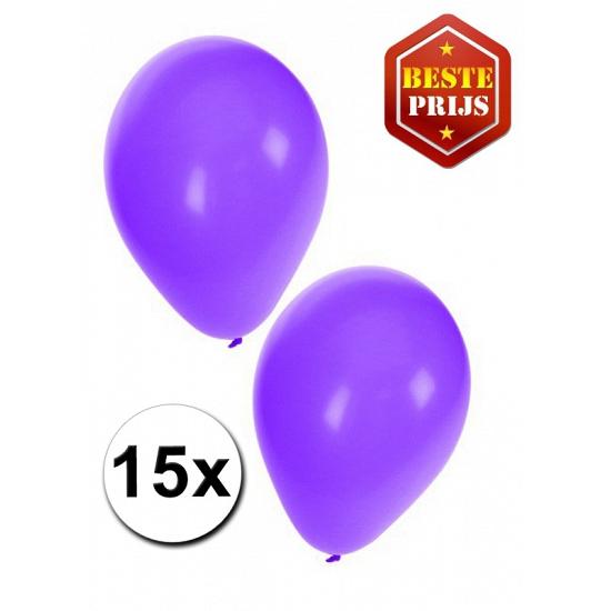 15 stuks paarse ballonnen