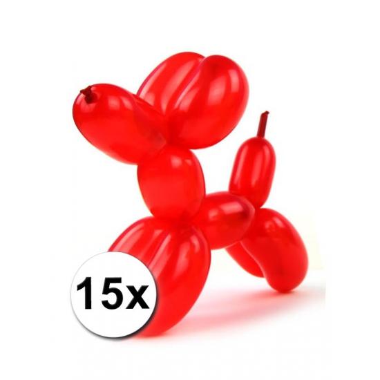 15x Figuurballonnen gekleurd