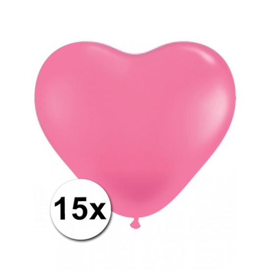15x Hart ballonnen roze