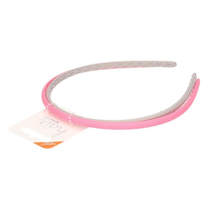 2 sporters haarbandjes in het roze en grijs voor volwassenen