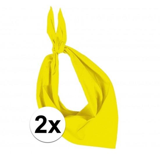 2 stuks geel hals zakdoeken Bandana style