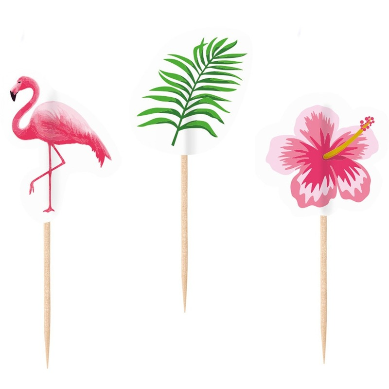 20x Flamingo feest prikkers