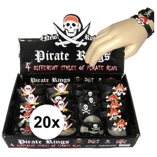 20x Kinder armbandjes piraten thema
