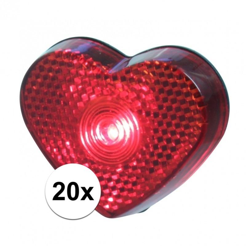 20x stuks Hartjes LED lampje