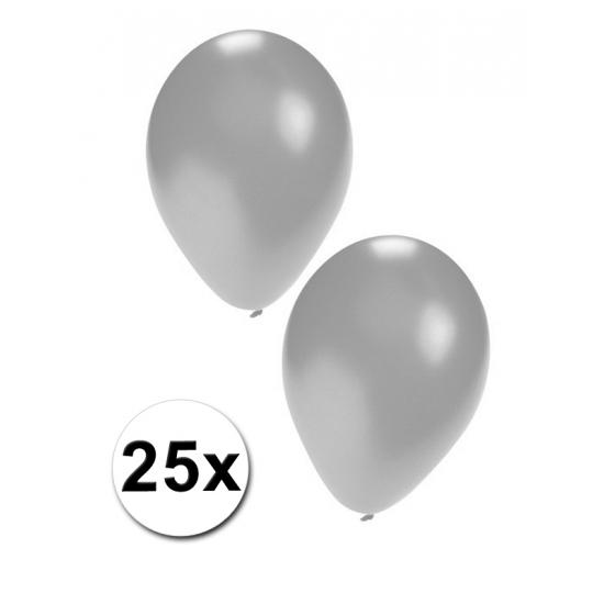 25 stuks zilveren ballonnen