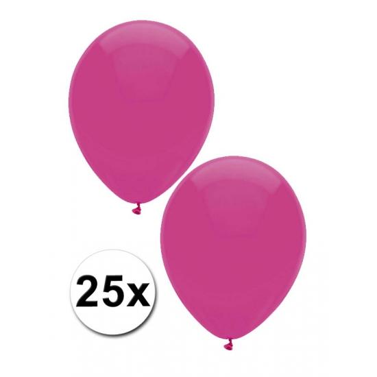 25x Donkerroze ballonnen