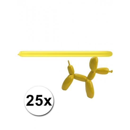 25x Figuurballonnen geel