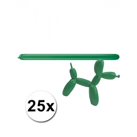 25x Figuurballonnen groen