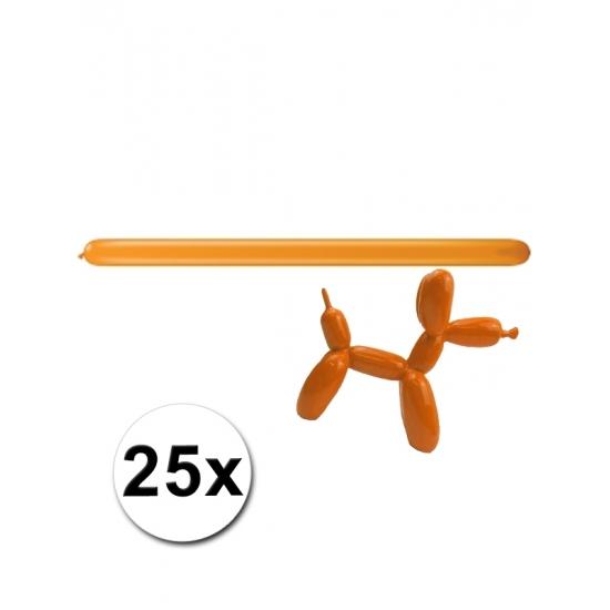 25x Figuurballonnen oranje