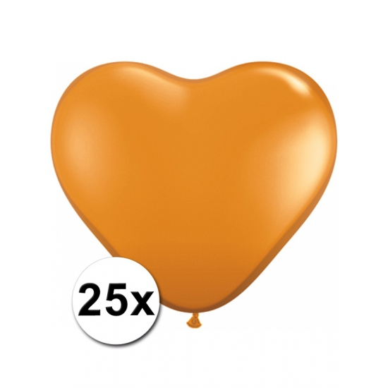 25x Hart ballonnen oranje